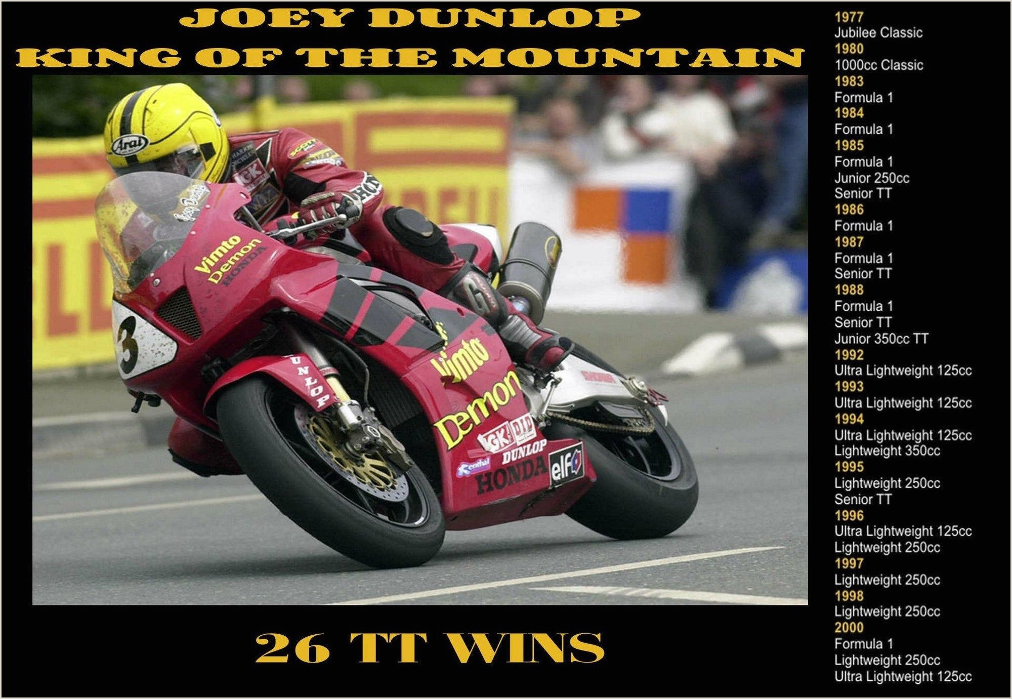 Fold Out Signs Home & Garden Home Décor Plaques & Signs Joey Dunlop Retro