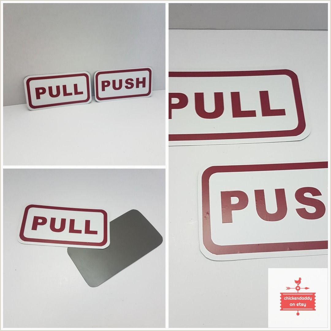 Fold Out Signs Push Pull Business Signs Aluminum Etsy