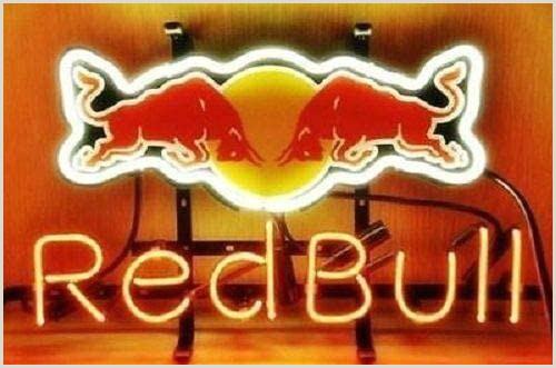 """Fold Out Signs Queen Sense 14""""x10"""" Redbull Energy Drink Neon Sign Light Beer Bar Pub Man Cave Real Glass Lamp De67"""