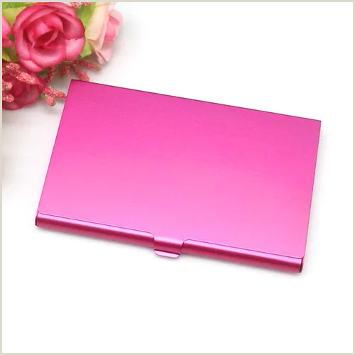 Format Business Card Creative Casual Business Card Case Stainless Steel Aluminum Holder Metal Box Cover Credit Men Business Card Holder Metal Wallet Wholesale Vova