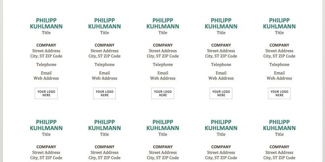Free Business Cards Template Word Free Business Card Template with Word