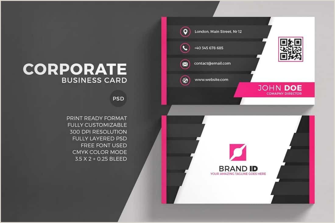 Free Modern Business Card Template 20 Best Modern Business Card Templates 2020 Word Psd