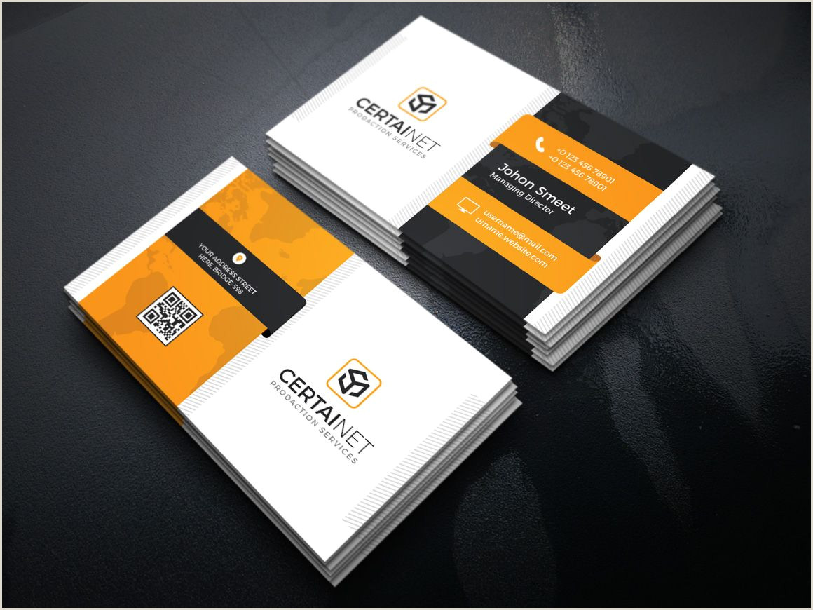 Free Modern Business Card Template Carbon Elegant Corporate Business Card Template