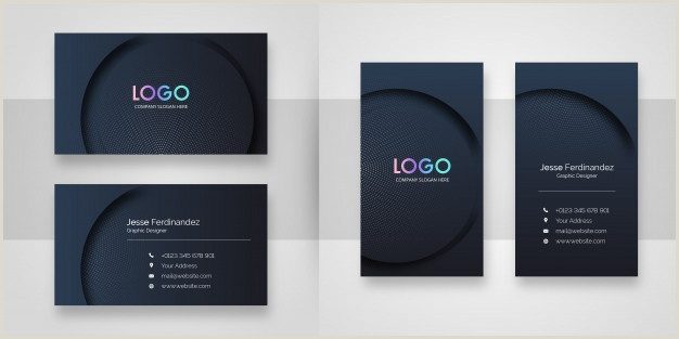 Front And Back Business Card Free Vector