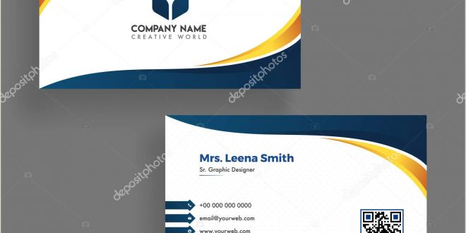 Front and Back Business Card Modern Business Card Template Design Both Sided Contact Card F