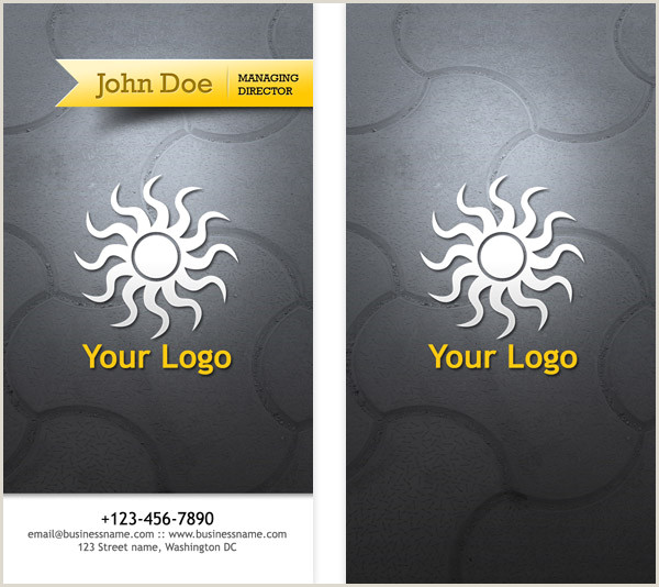 Front And Back Business Card Template Business Card Psd Templates Front & Back Graphicsfuel