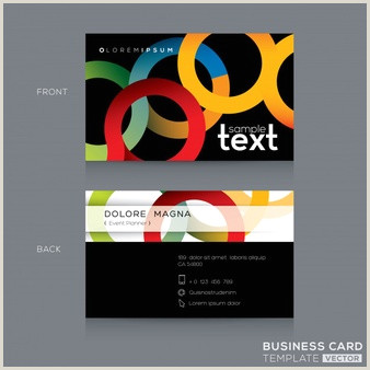 Front And Back Business Card Template Free Vector