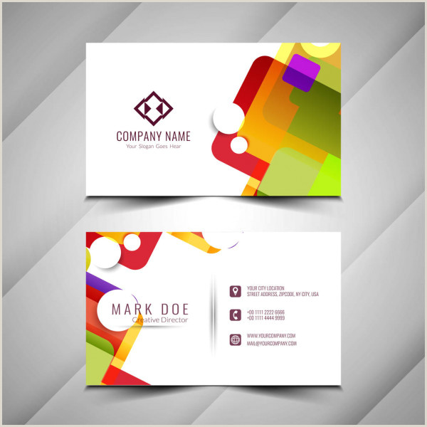 Front And Back Business Card Template Modern Business Card Template Design Both Sided Contact