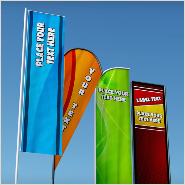 Full Size Flag Stands Banner Mercial Flag Stand Pack Low Poly