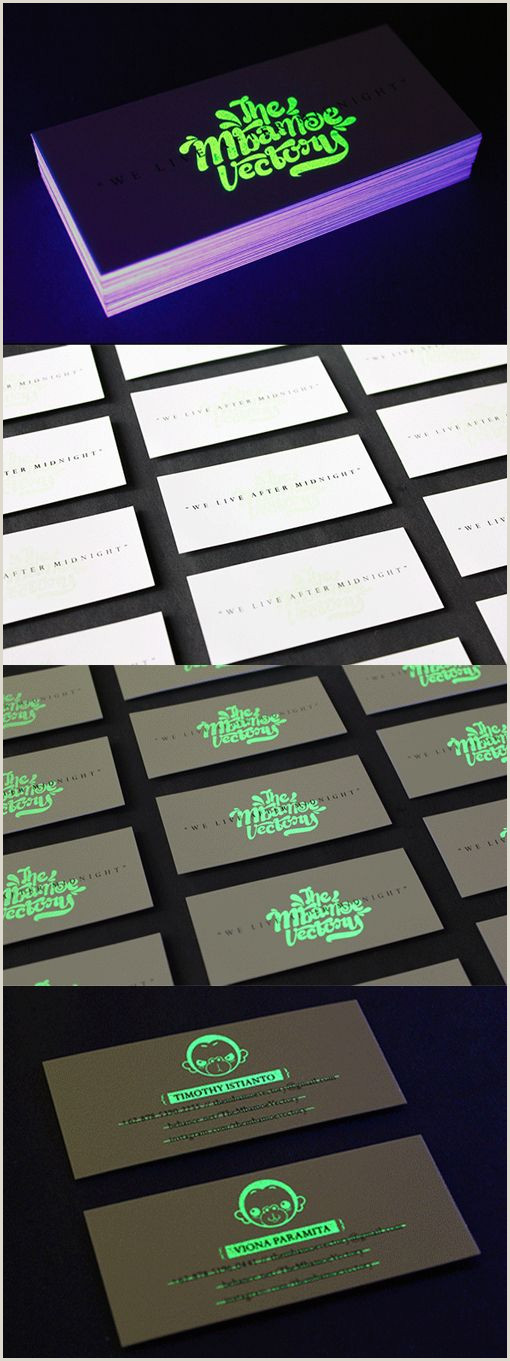 Glow In The Dark Business Cards Clever Glow In The Dark Business Card For A Design Pany