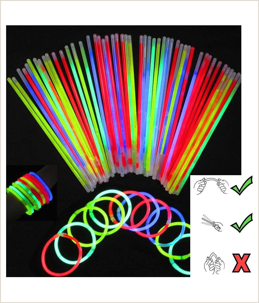 Glow In The Dark Business Cards Glow Sticks Bracelets Necklaces Neon Colors Glow In Dark Party Favors Disco Rave Assorted