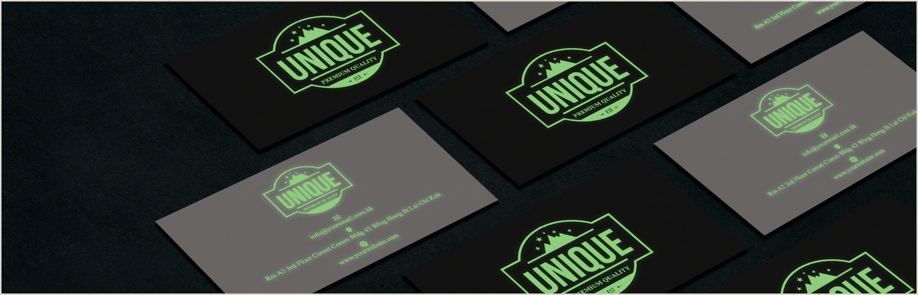 Glow In The Dark Business Cards Glowing Business Cards