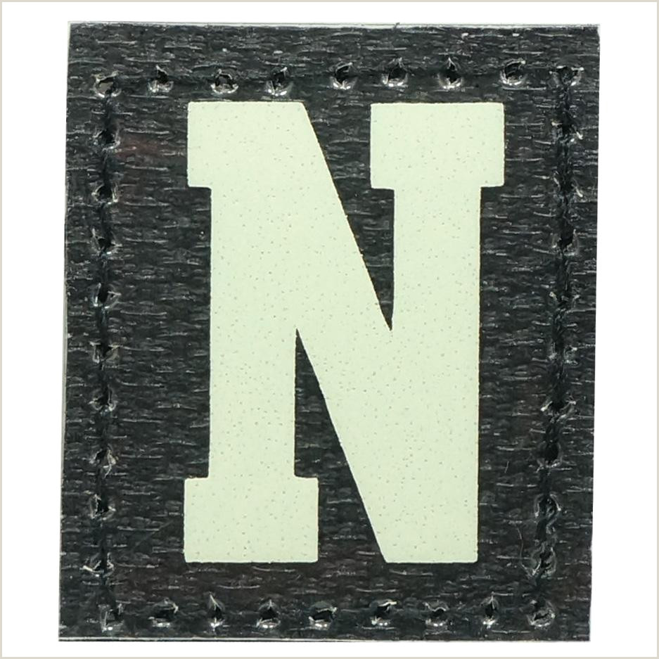 Glow In The Dark Business Cards Hgs Letter N Patch Glow In The Dark Hock Gift Shop