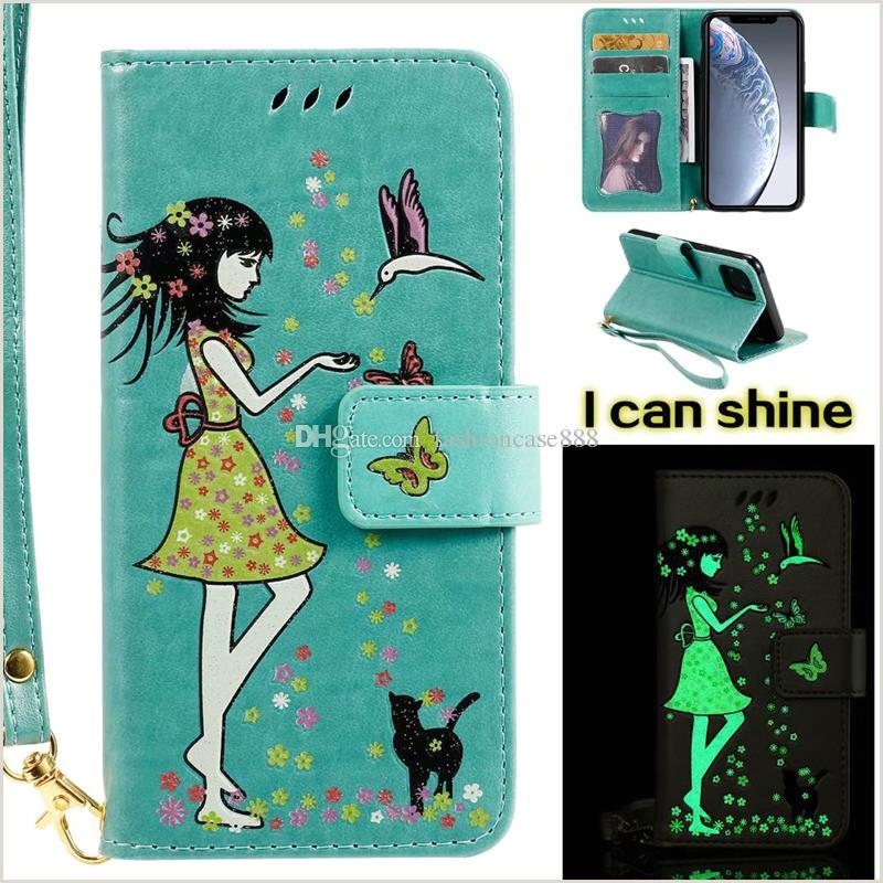 Glow In The Dark Business Cards Luminous Glow In Dark Flip Cover Butterfly Card Wallet Case