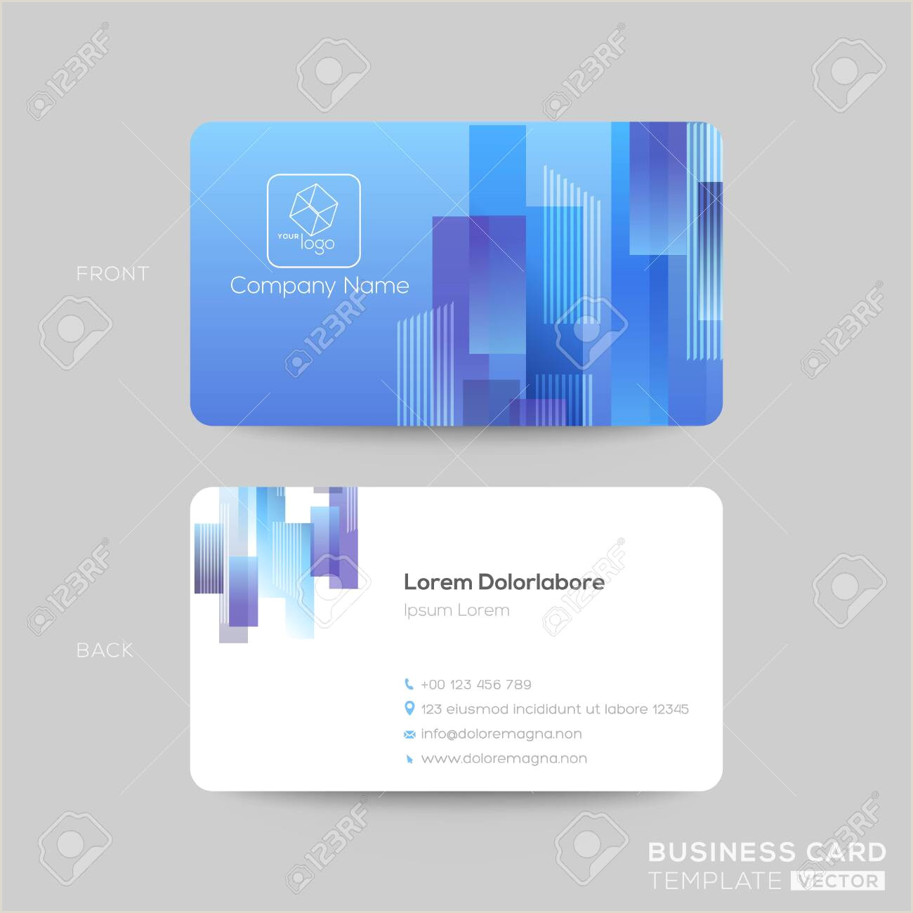 Glow In The Dark Business Cards Vector Blue Business Card Background Free Premium Vector