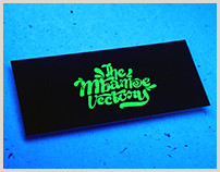 Glow In The Dark Business Cards We Live After Midnight  Glow In The Dark Business Card On