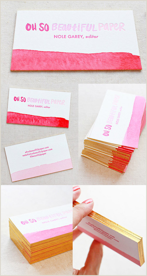 Gold Foil Edge Business Cards A Collection Elegant Business Cards With Gold Designs
