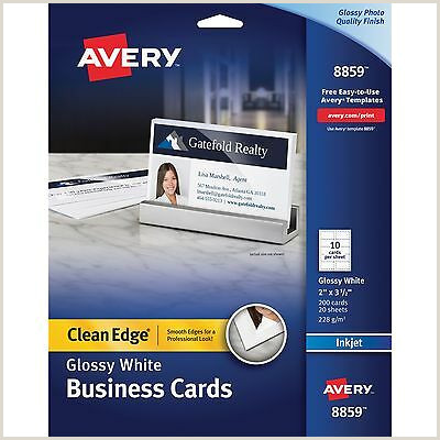 Gold Foil Edge Business Cards Binders & Supplies Business Cards