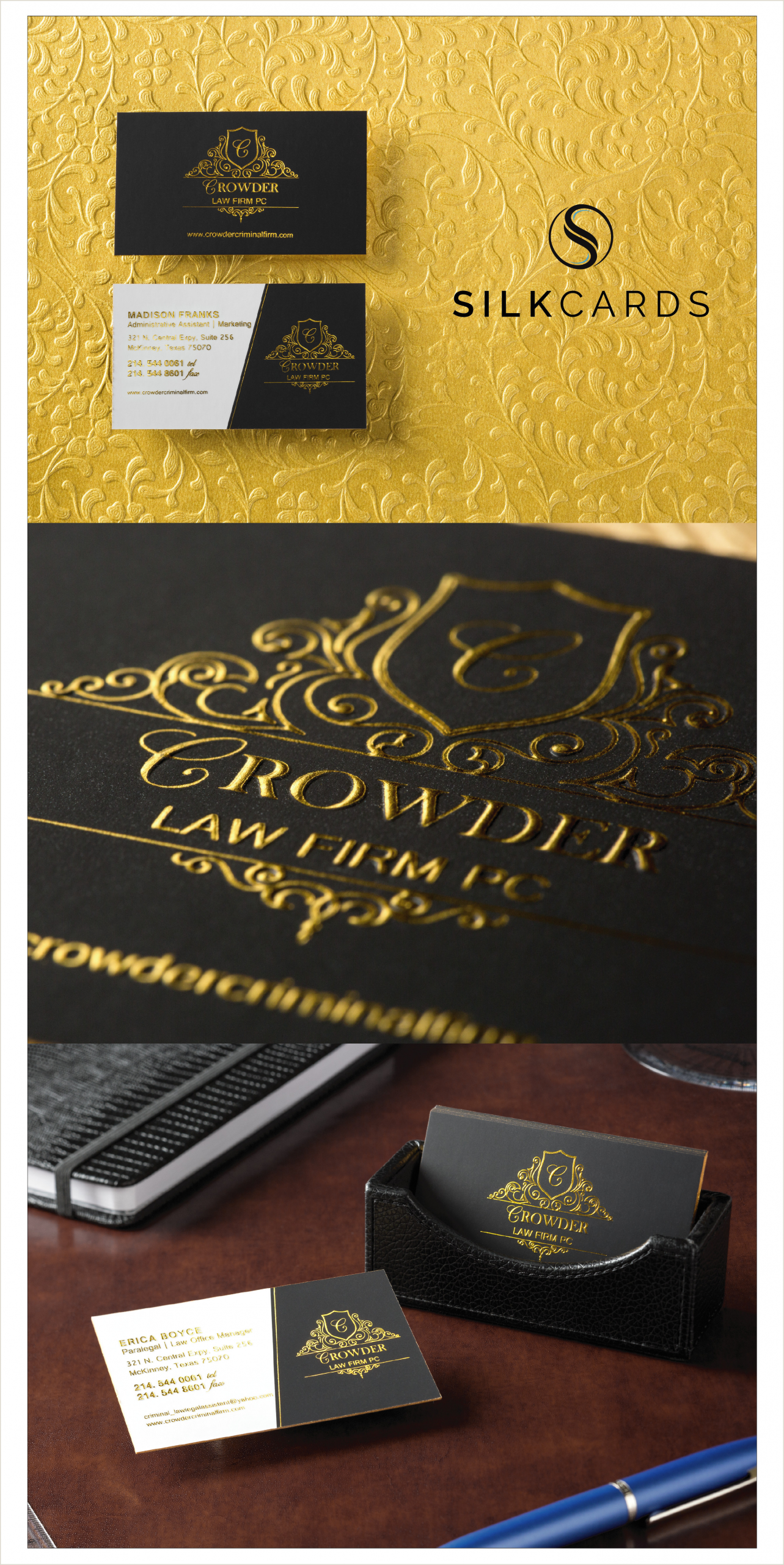 Gold Foil Edge Business Cards Gold Foil Cards By Silkcards