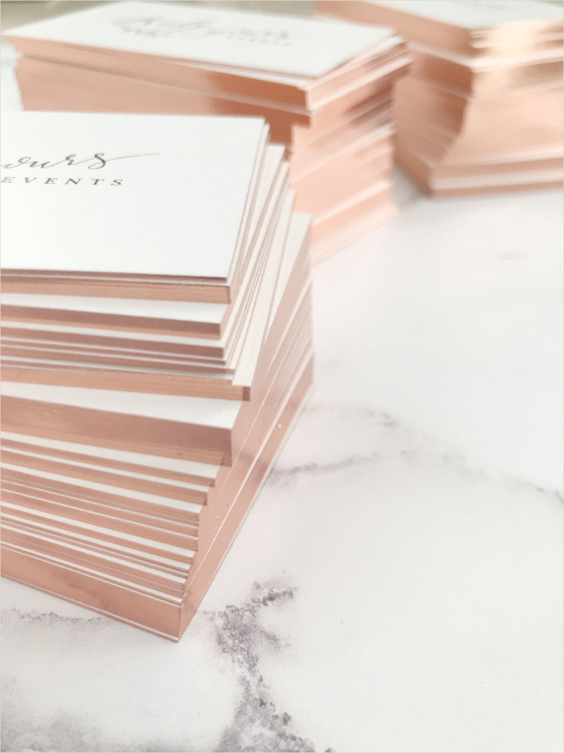 Gold Foil Edge Business Cards Rose Gold Gilt Edge Business Cards