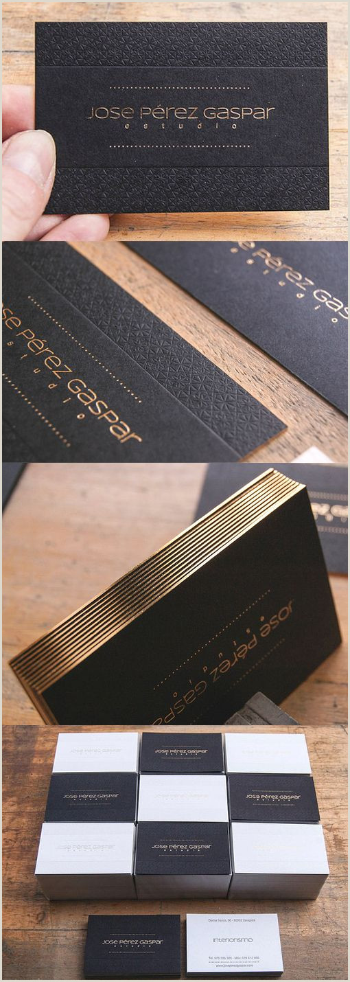 Gold Foil Edge Business Cards Textured Letterpress Gold Foil Edge Painted Business Card