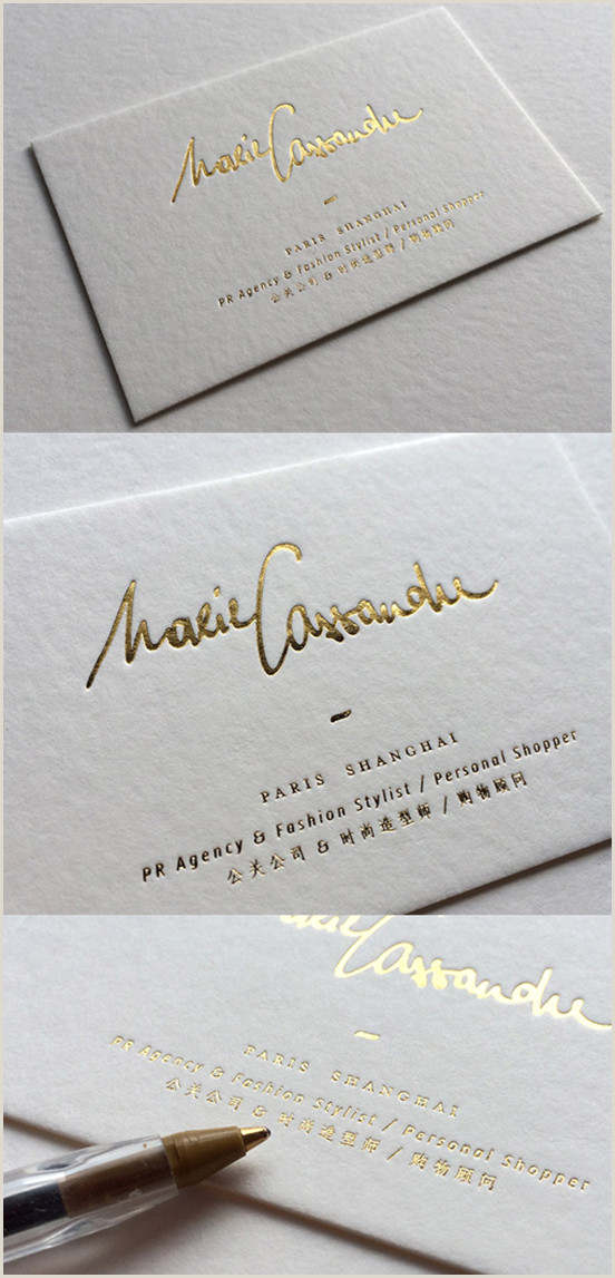 Gold Foil Edge Business Cards White Calligraphy Business Card Business Cards