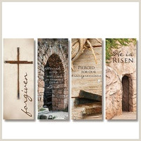 H Banner Stand Banners Easter