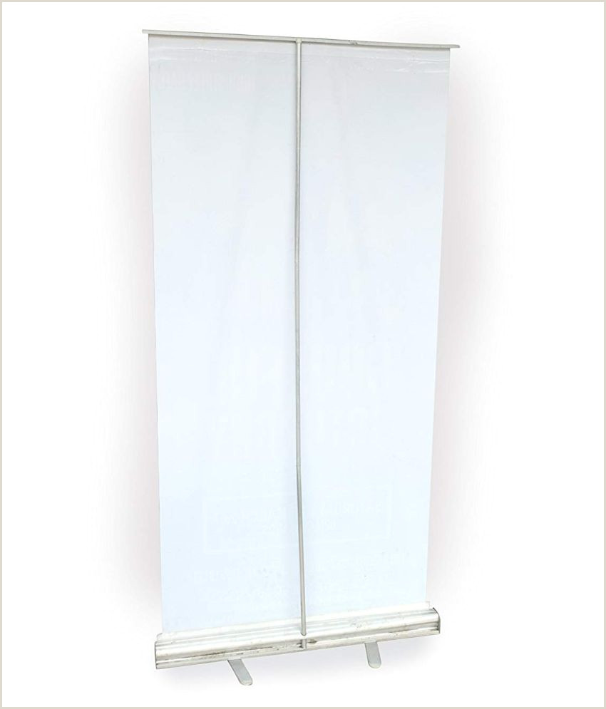 H Banner Stand Roll Up Standee Banner Without Flex Silver 3 X 6 Ft