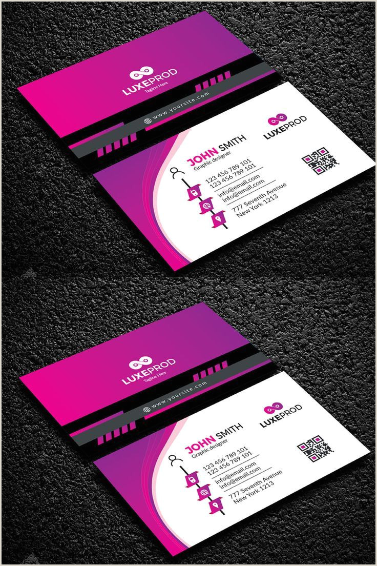 Home Business Cards Corporate Identity Simple Graphic Design In 2020