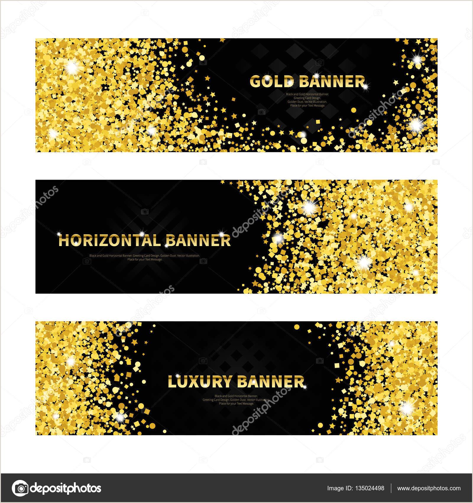 Horizontal Banner Holder Gold And Black Horizontal Banners