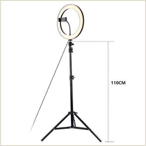 Horizontal Banner Holder Graphy Led Selfie Ring Light 26cm Metal Dimmable Camera Phone Ring Lamp With Stand TriPods For Makeup Video Live Studio Vova