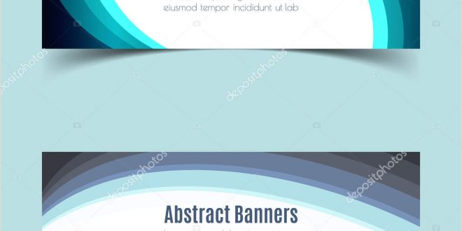 Horizontal Banner Holder Horizontal Banner Set — Stock Vector © theerapolsriin