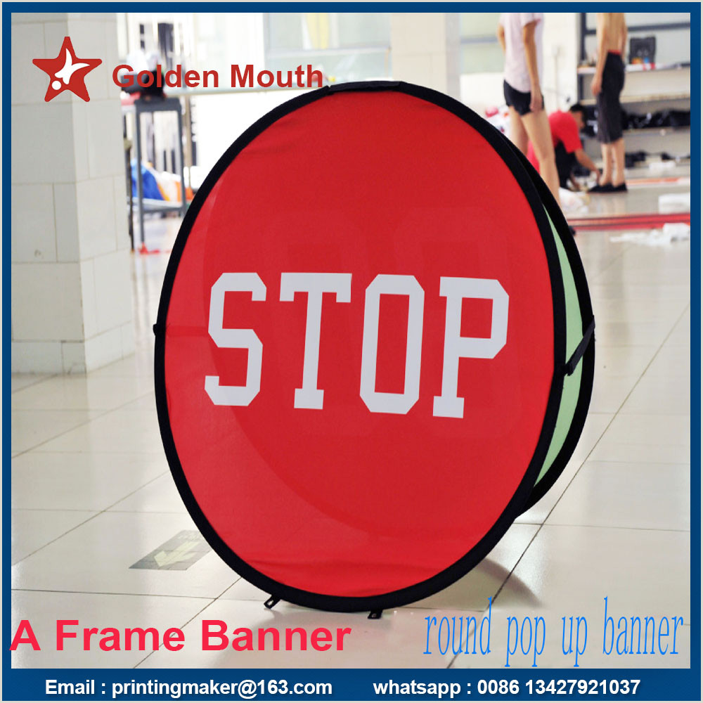 Horizontal Banner Holder Popup A Frame Banners Double Side Banner Stand Pop Up