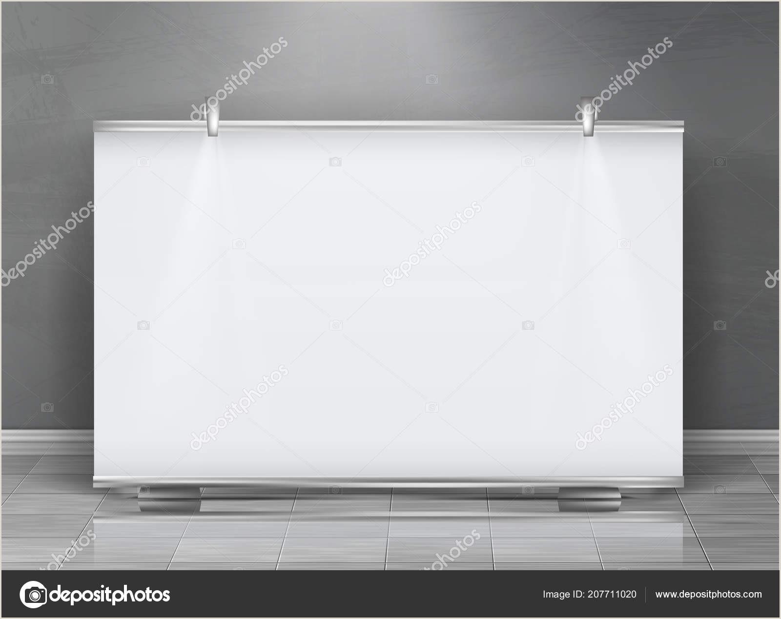 Horizontal Banner Holder Vector Blank Roll Up Banner Horizontal Stand