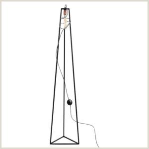 Horizontal Banner Stand Čierna Stojacia Lampa Custom form Trimetric