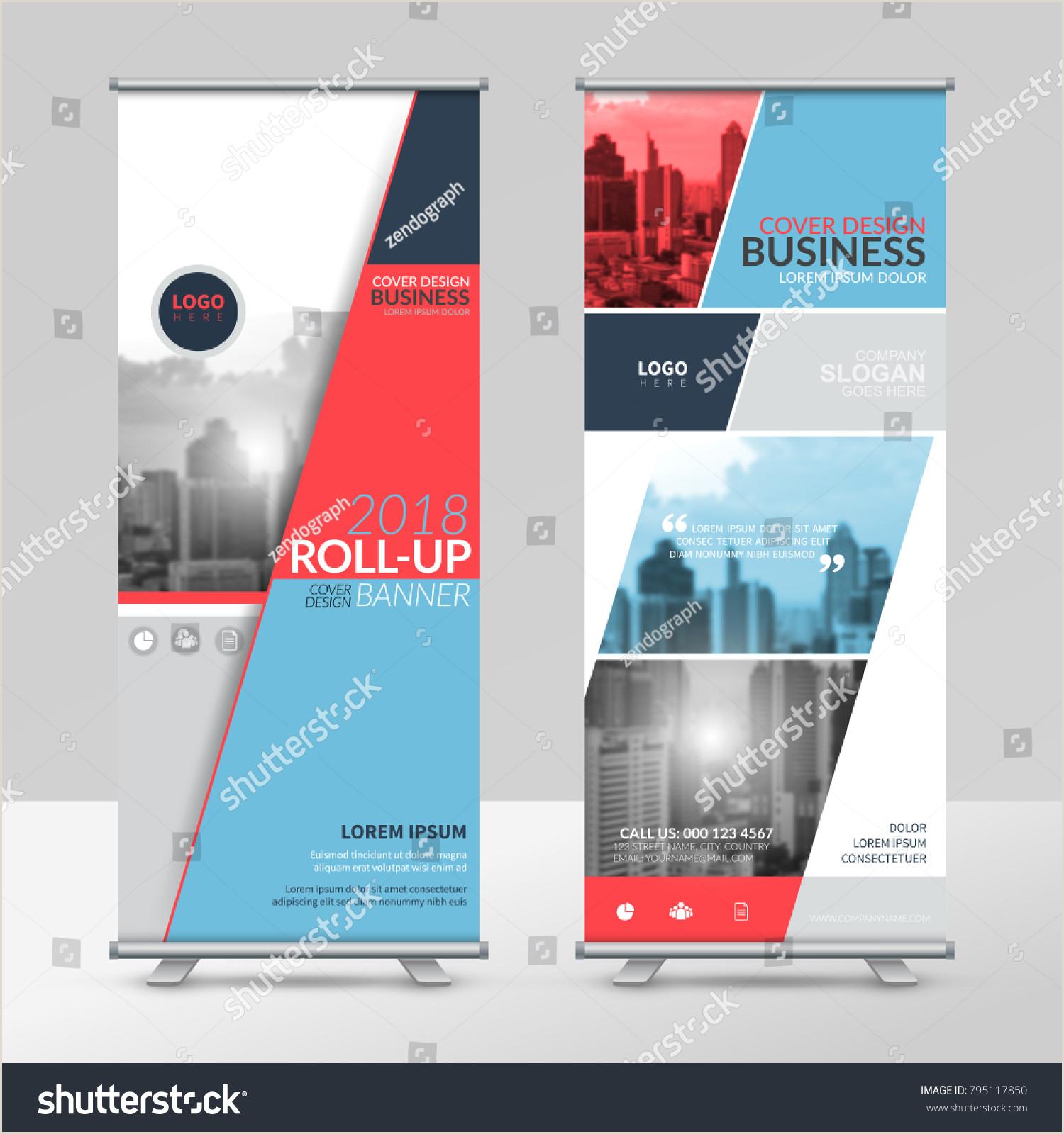 Horizontal Banner Stand Business Roll Design Template Xstand Vertical Stock Vector