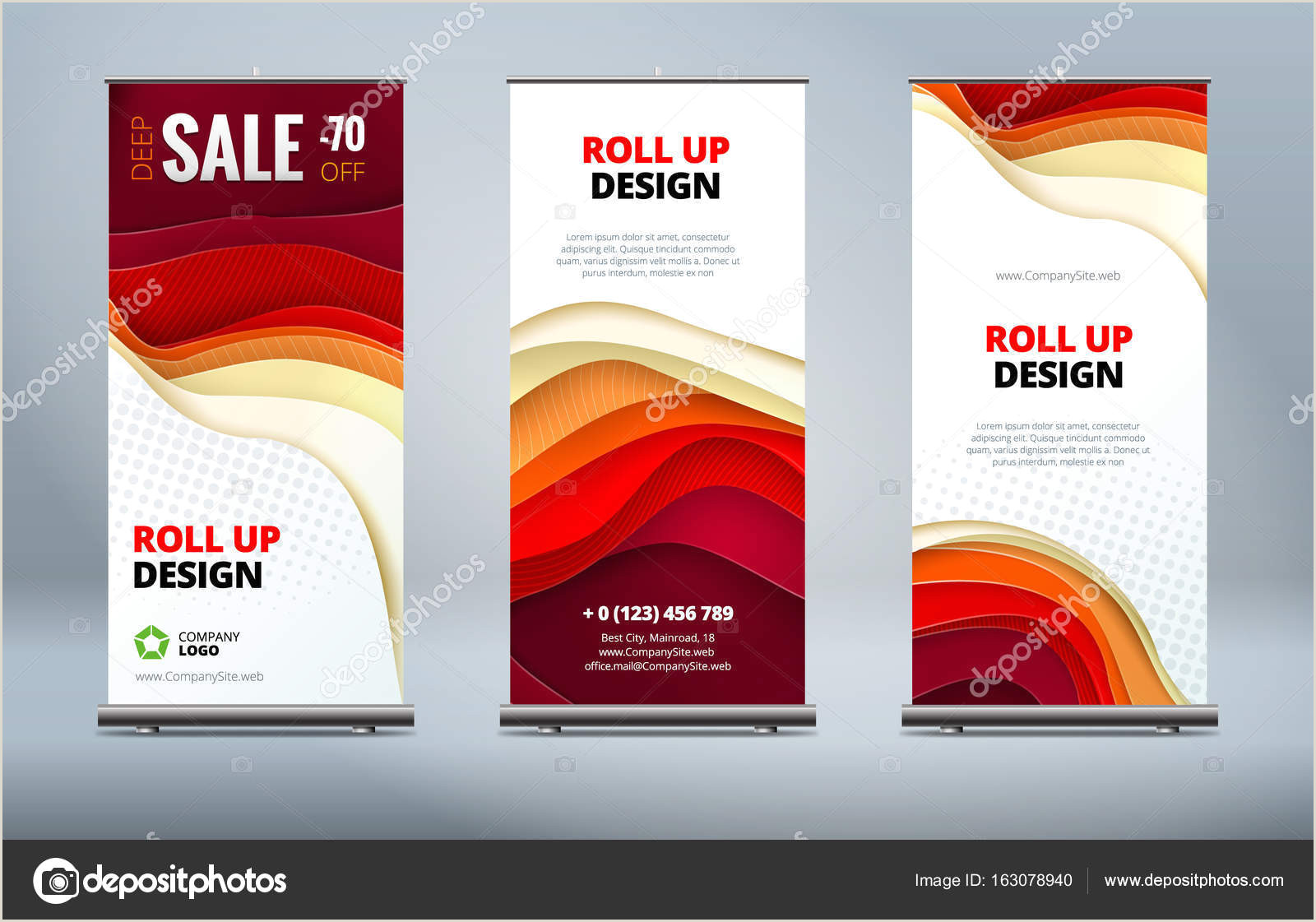 Horizontal Banner Stand Business Roll Up Banner Stand