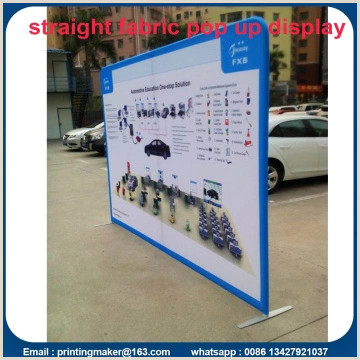 Horizontal Banner Stands For Trade Shows 8 Ft Tension Fabric Backdrop Trade Show Displays China
