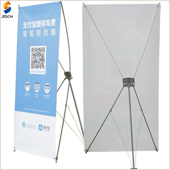 Horizontal Banner Stands For Trade Shows China Adjustable TriPod Model Trade Show Display Horizontal