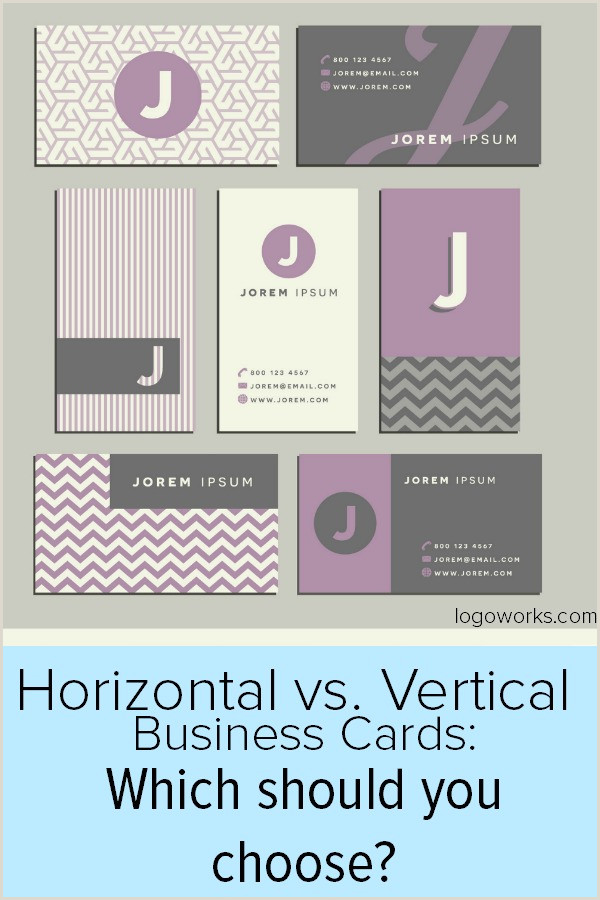 Horizontal Vs Vertical Business Cards Professional Business Cards Vertical Or Horizontal