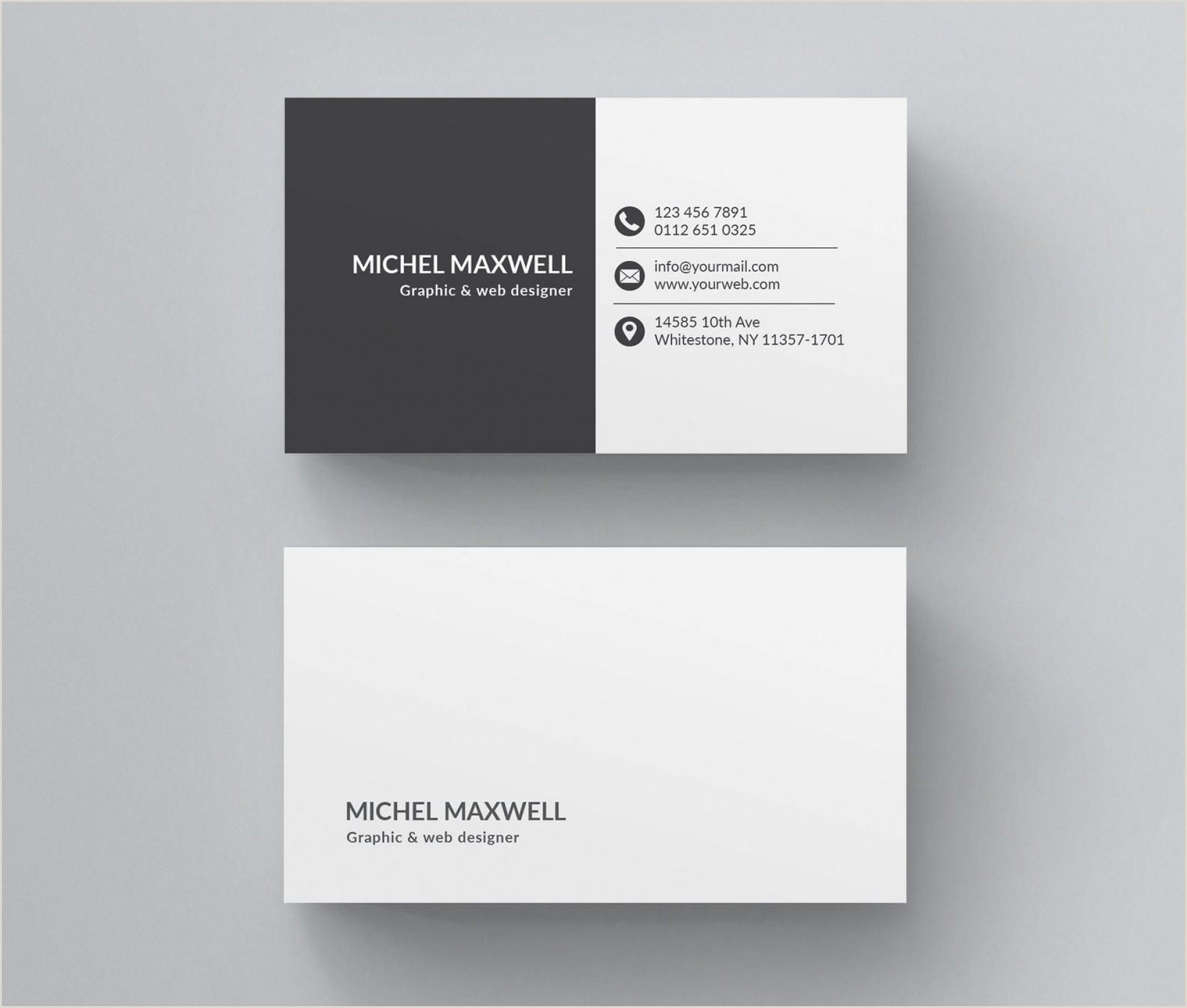 Horizontal Vs Vertical Business Cards Word Business Cards Templates