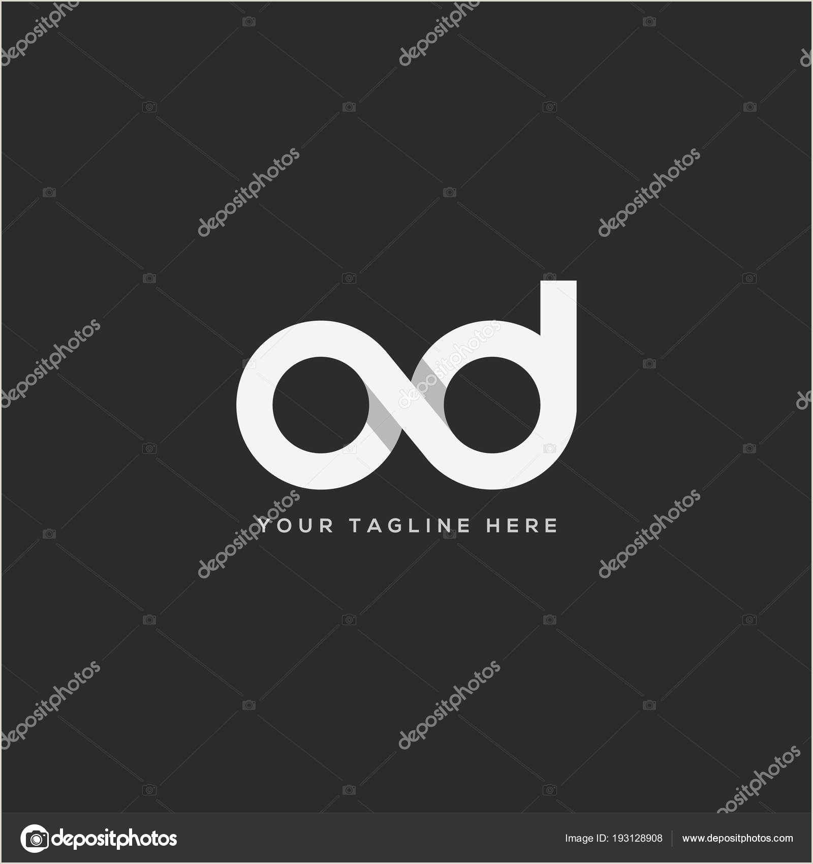 How Big Are Buisness Cards Letters Logo Template Buisness Card — Stock Vector