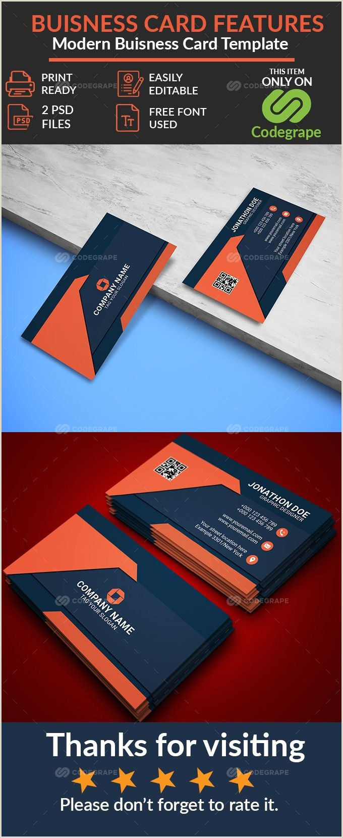 How Big Are Buisness Cards Modern Business Card In 2020