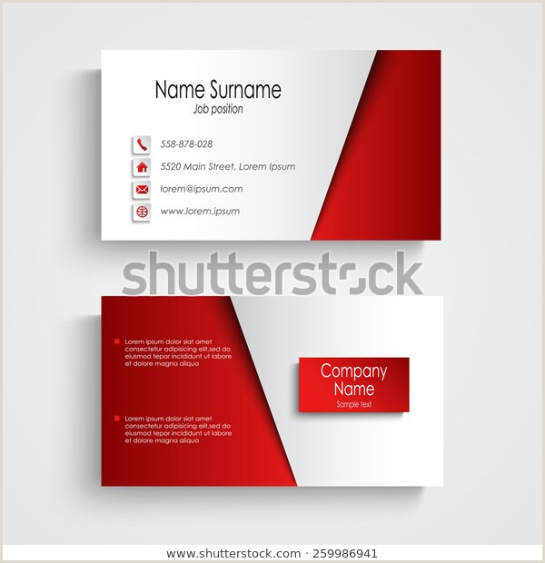How Big Are Buisness Cards Modern Light Red Business Card Template Stock Vector