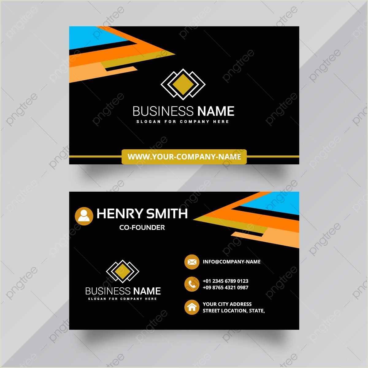 How To Format A Business Card Business Card Format Png