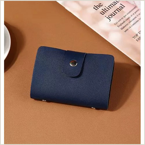 How To Format A Business Card New Pu Leather Function 24 Bits Card Case Business Card Holder Men Women Credit Passport Card Bag Id Passport Card Wallet H088 Vova
