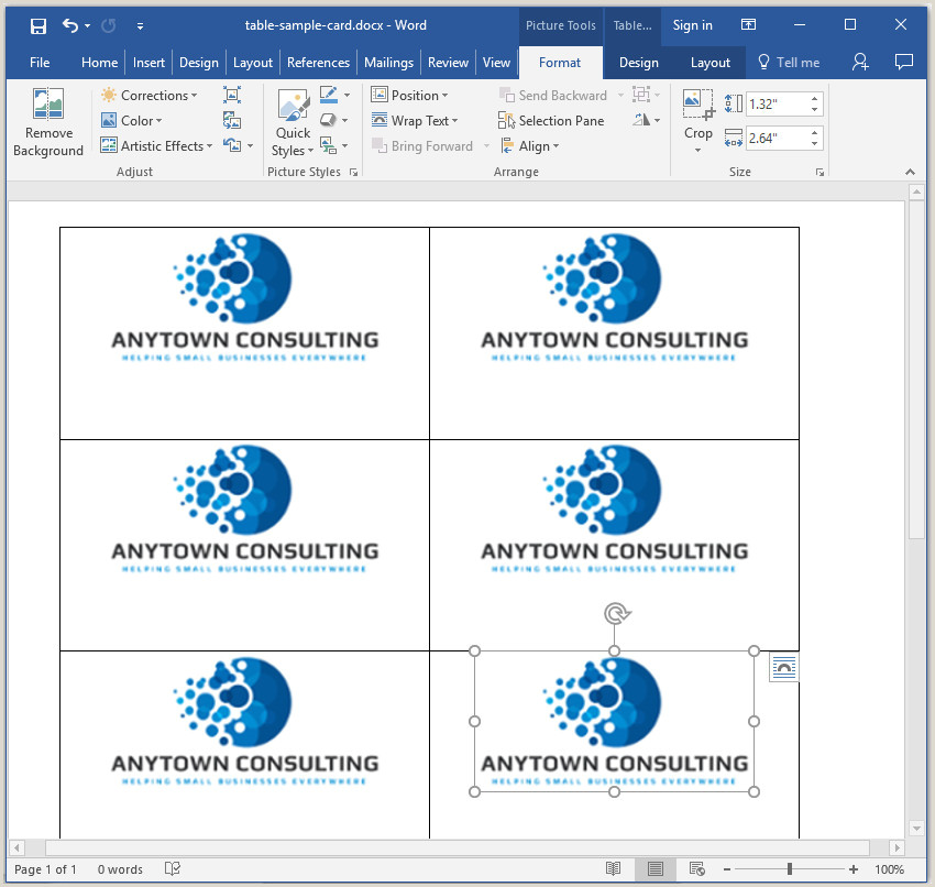 How To Make All Business Cards The Same In Word How To Make Your Own Business Cards In Word