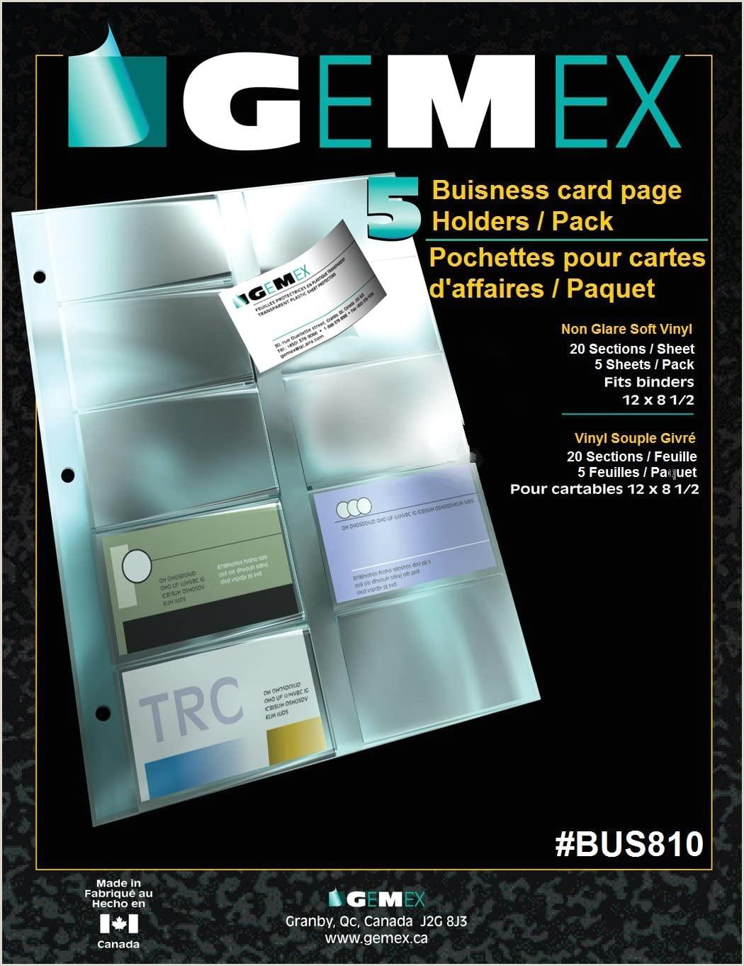 How To Make Buisness Cards Gemex Vinyl Business Card Holder For Bch 200l Aurex Binders