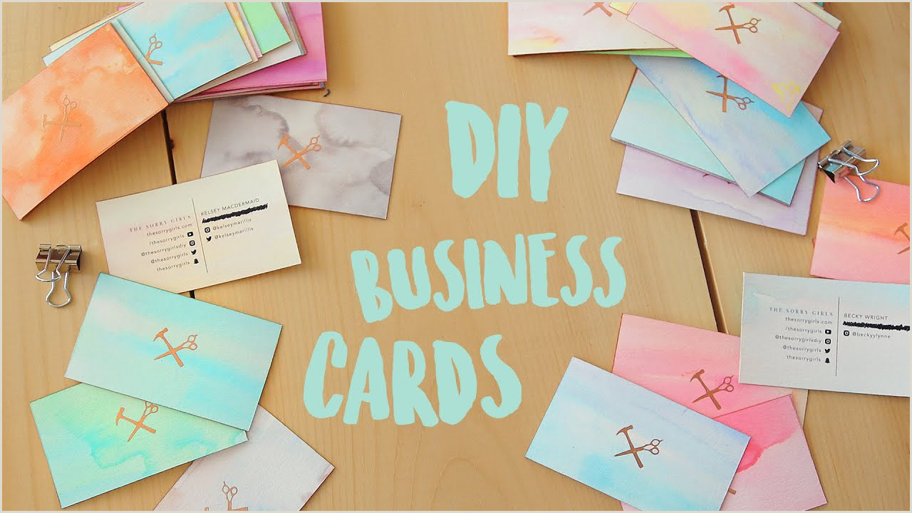 How To Make Business Card Diy Business Cards Watercolour And Gold Edge