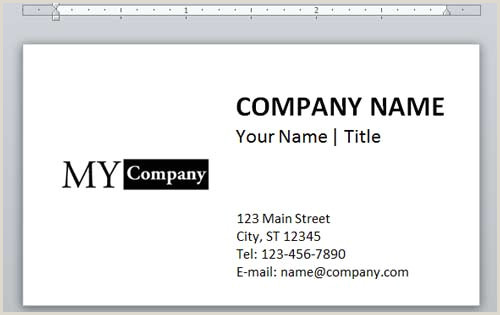 How To Make Business Card In Word How To Design A Business Card Using Word Printit4less